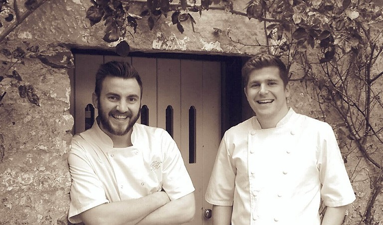 Chefs at the Hipping Hall Restaurant in Kirkby Lonsdale