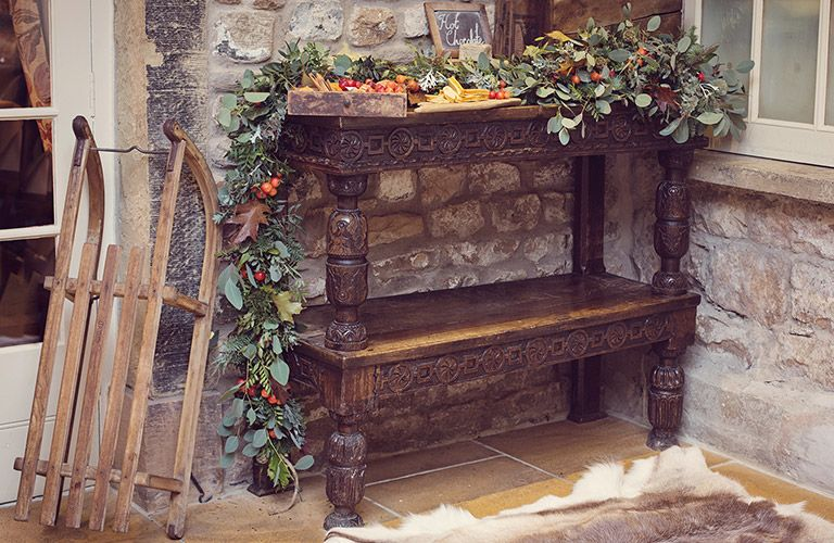 Christmas Decor at Hipping Hall in the Yorkshire Dales
