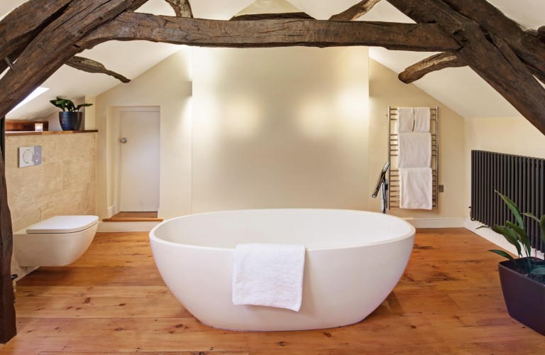 Luxurious bathroom in the Tatham Suite at Hipping Hall Hotel & Restaurant