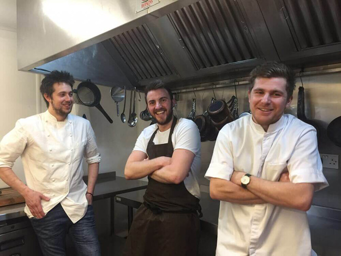 Chefs in the Hipping Hall Restaurant in Kirkby Lonsdale