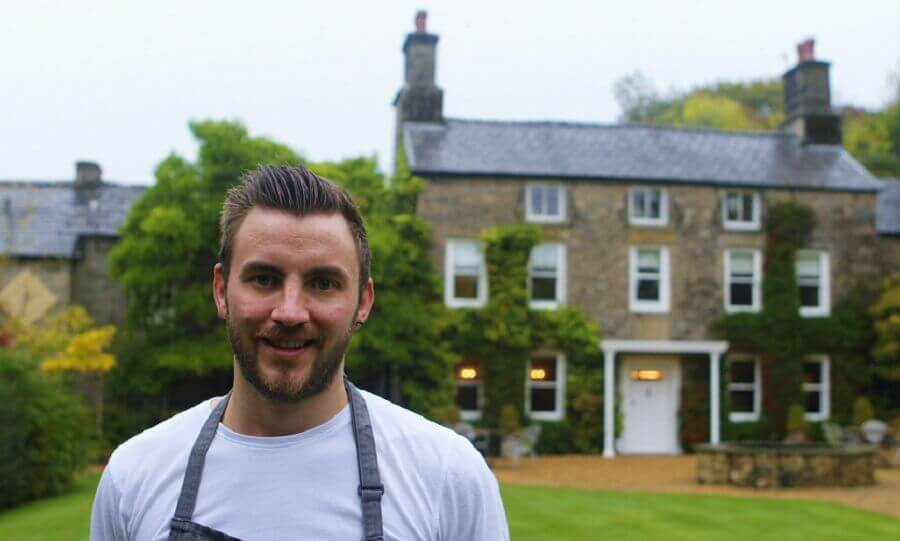 Oli Martin, Head Chef at Hipping Hall Restaurant in Kirkby Lonsdale
